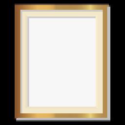 Glänzender goldener Rahmen