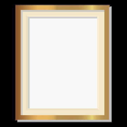 Glossy golden frame Transparent PNG