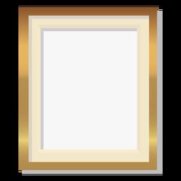 Glossy golden frame decoration