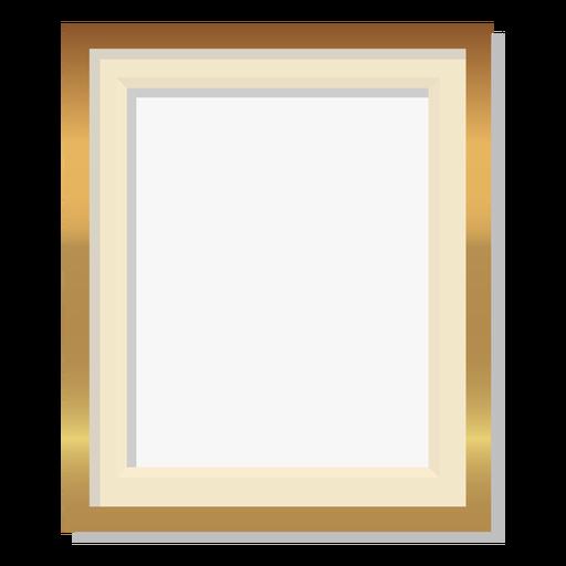 Glossy golden frame decoration Transparent PNG