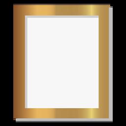 Glänzender goldener Bilderrahmen