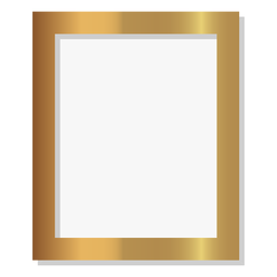 Glossy golden picture frame