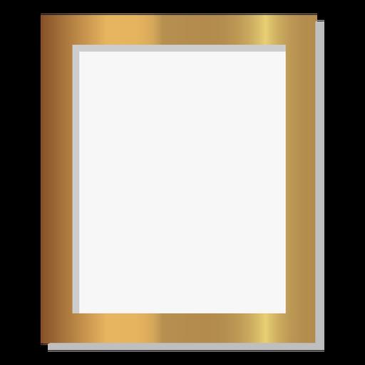 Marco de imagen dorado brillante