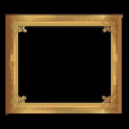 Glänzender ornamentaler goldener Rahmen