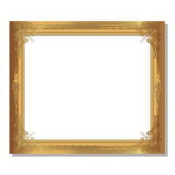 Glossy ornamental golden frame