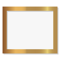 Glossy rectangle golden frame