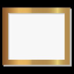 Marco dorado rectángulo brillante