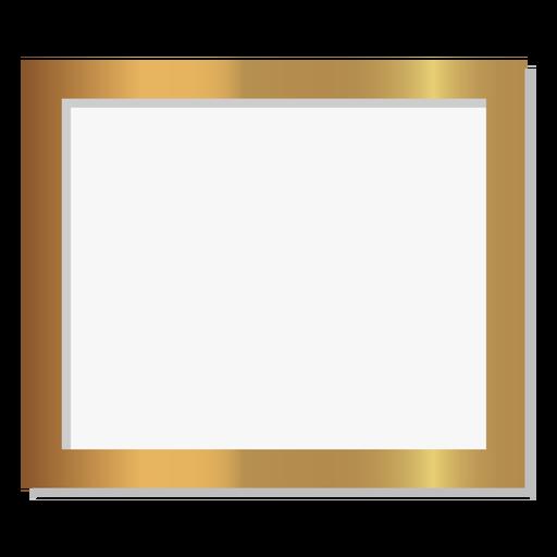 Glossy rectangle golden frame Transparent PNG