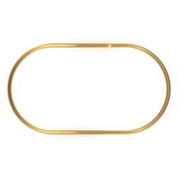 Glossy rounded golden frame