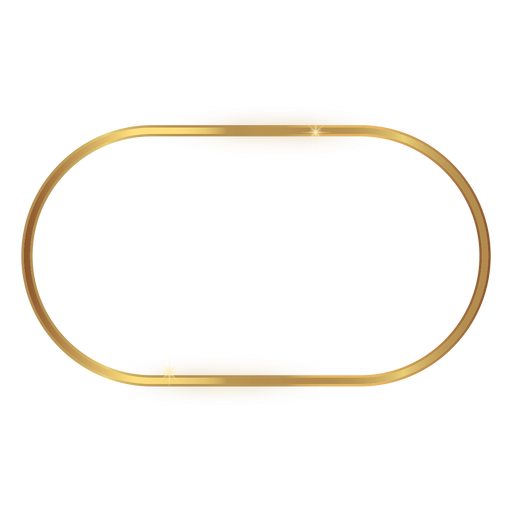 Marco dorado redondeado brillante Transparent PNG