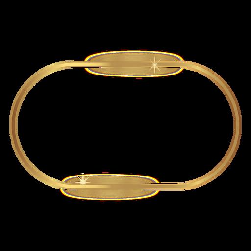 Moldura dourada arredondada brilhante Transparent PNG