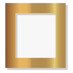 Glossy solid golden frame
