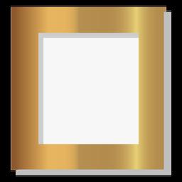 Marco de oro sólido brillante