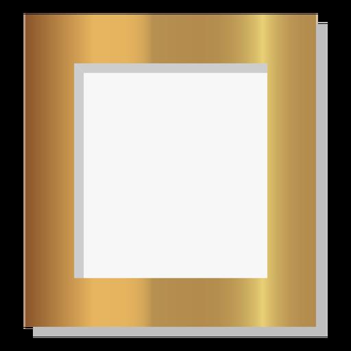 Glossy solid golden frame Transparent PNG