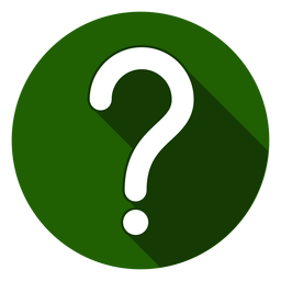 Green circle question mark icon