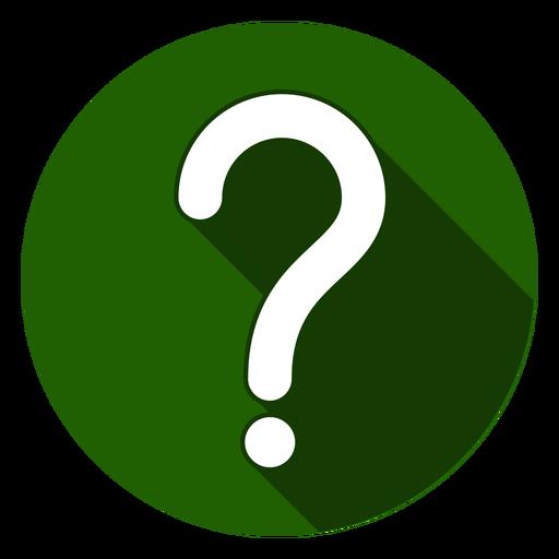 Icono de signo de interrogación círculo verde Transparent PNG