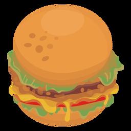 Comida de ícone de hambúrguer