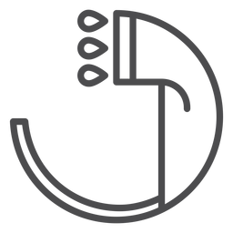Ícone de traço de chuveiro de mão