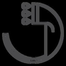 Icono de movimiento de cabezal de ducha manual