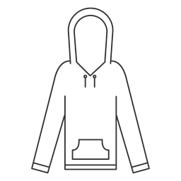 Hooded sweatshirt stroke icon