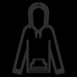 Ícone de traço de moletom com capuz