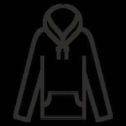 Icono de trazo con capucha