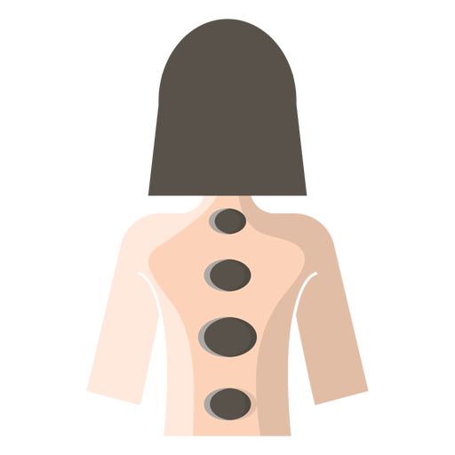 Ícone de massagem com pedras quentes Transparent PNG