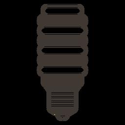 Bombilla incandescente icono de trazo