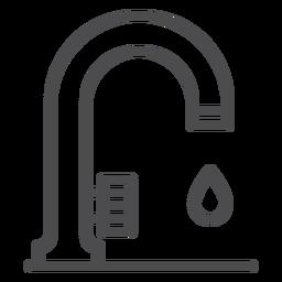 Küchenspüle Strich-Symbol