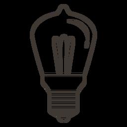 Bombilla icono de trazo