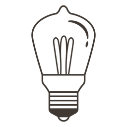 Icono de trazo de bombilla