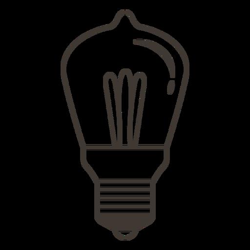 Bombilla icono de trazo Transparent PNG