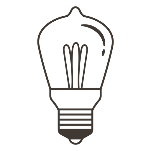 Icono de trazo de bombilla Transparent PNG