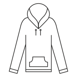 Ícone do curso do hoodie da luva longa