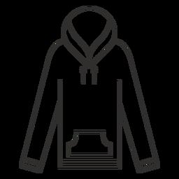 Icono de trazo de manga larga con capucha