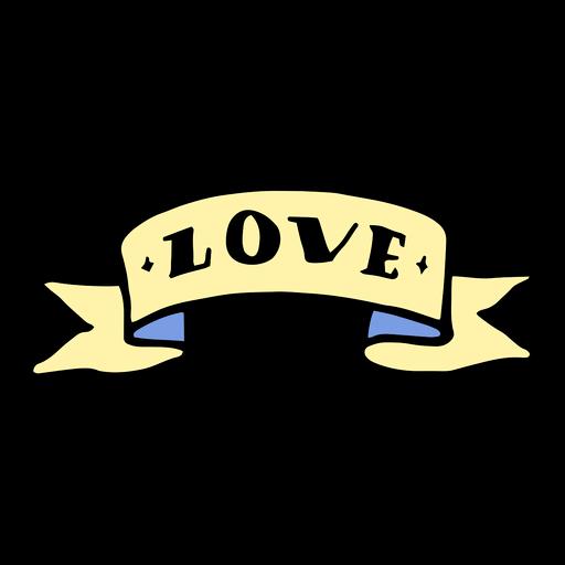 Amor cinta vintage tatuaje Transparent PNG