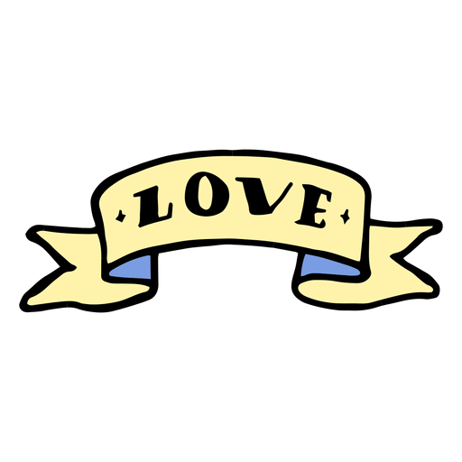 Love ribbon vintage tattoo Transparent PNG