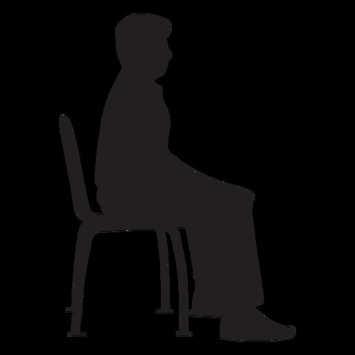 Hombre sentado en silueta de silla Transparent PNG