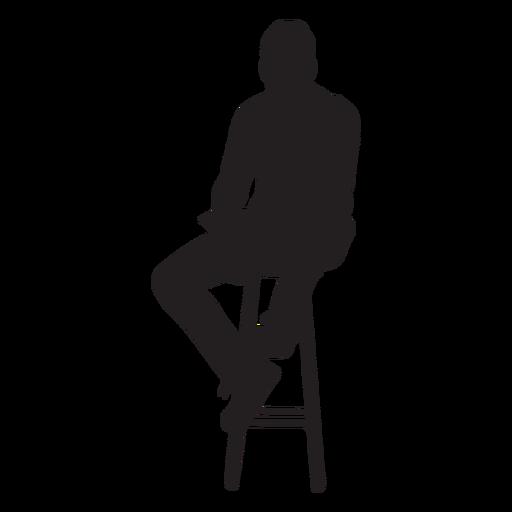 Hombre sentado en silueta de silla alta Transparent PNG