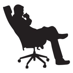 Man sitting on office chair silhouette