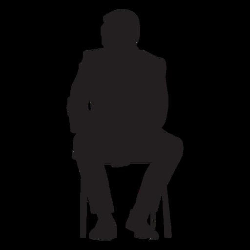 Hombre sentado silueta gente sentada