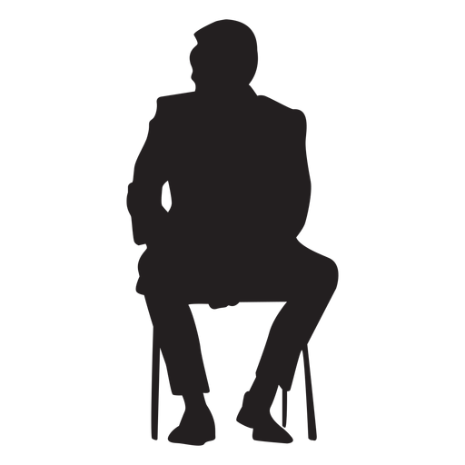 Man Sitting Silhouette People Sitting - Transparent PNG ...
