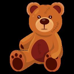 Ilustración de oso de peluche viejo