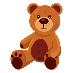 Old teddy bear illustration