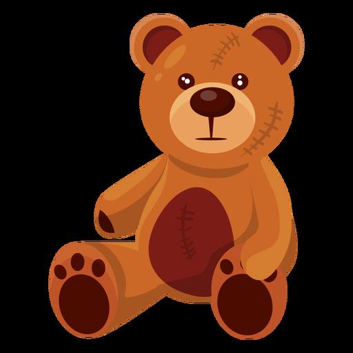 Old teddy bear illustration Transparent PNG