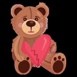 Alter Teddy, der Herz hält