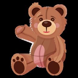 Velho teddy acenando ilustração