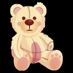 Old white teddy illustration