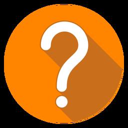 Icono de signo de interrogación de círculo naranja