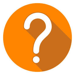 Orange circle question mark icon